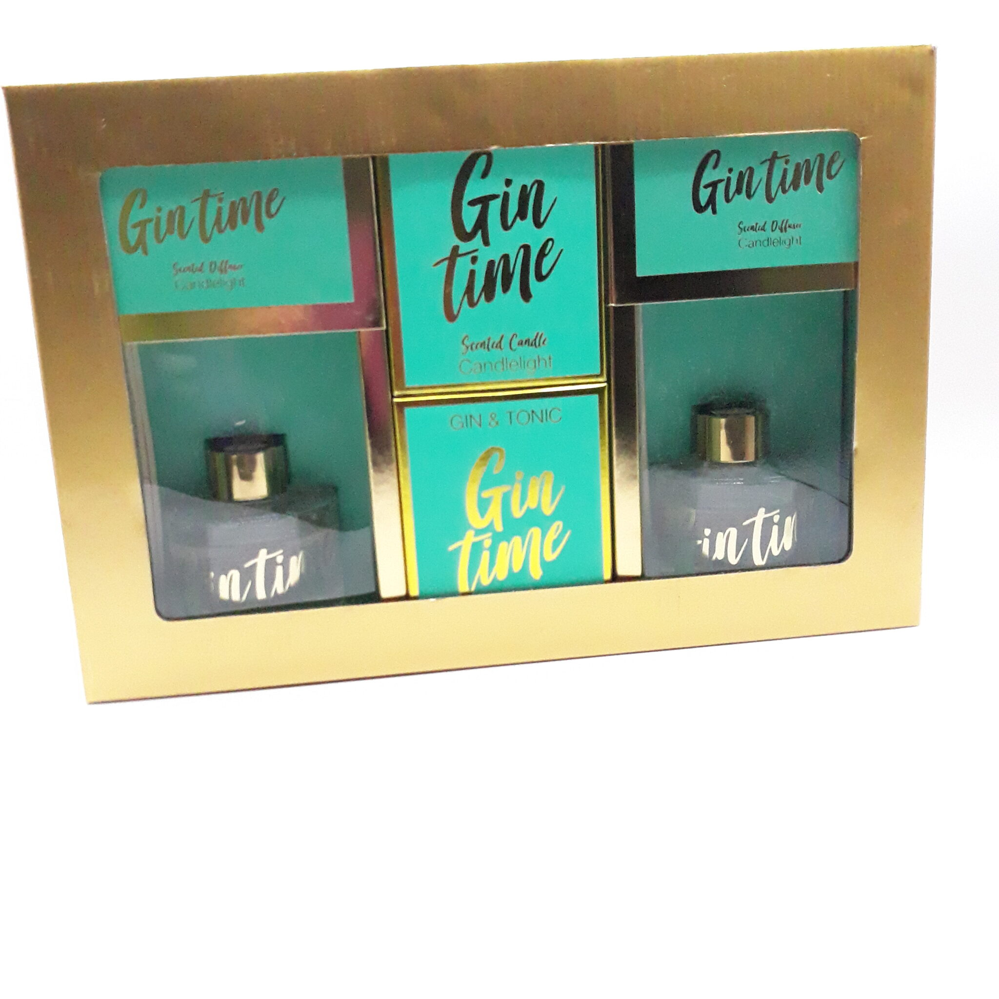 Gin & Tonic (Gin Time) Reed diffuser and scented Candle Gift set
