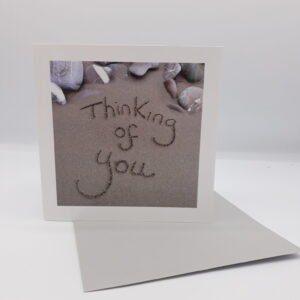 Sandscript Card - Thinking Of You