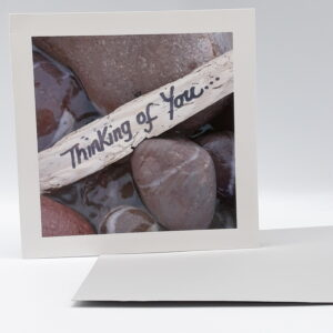 Sandscript - Thinking of You Driftwood & Pebbles
